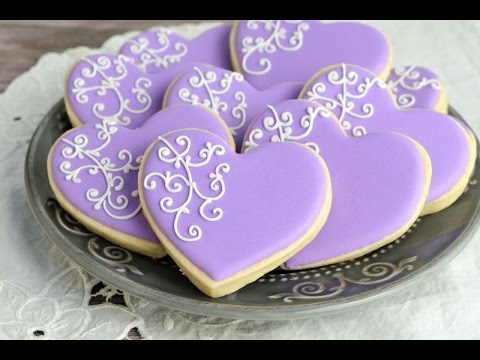 Wedding Cake Shaped Sugar Cookies