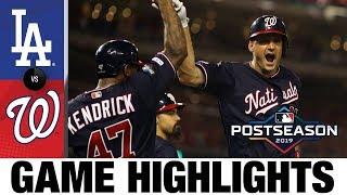 Max Scherzer, Ryan Zimmerman lift Nats to Game 4 win   Dodgers-Nationals NLDS Game Highlights