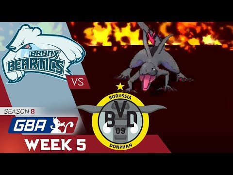 """""""THE HEAT IS ON"""" Bronx Beartics vs Borussia Donphans! GBA S8 W5! Ultra Sun & Moon Wifi Battle"""