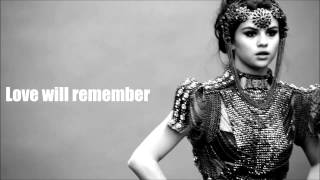 Love Will Remember-Selena Gomez (Lyrics Video)