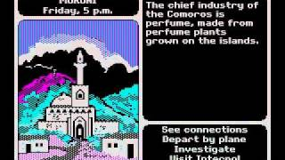 DOS Game: Where in the World is Carmen Sandiego (1985 Broderbund)