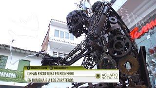 Crean escultura en Rionegro en homenaje a los zapateros