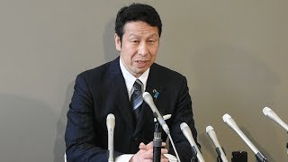 米山隆一・新潟県知事が会見 進退表明せず thumbnail