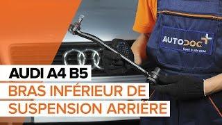 Comment remplacer des bras inférieur de suspension arrière sur une AUDI A4 B5 TUTORIEL   AUTODOC