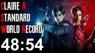Resident Evil 2 Remake - Claire A Speedrun World Record - 48:54