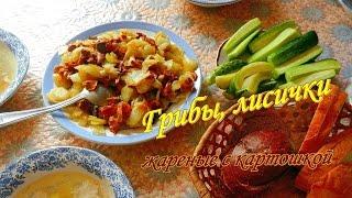 Грибы  жареные, быстро просто вкусно. Лисички. Видео рецепты от бабки Борисовны.