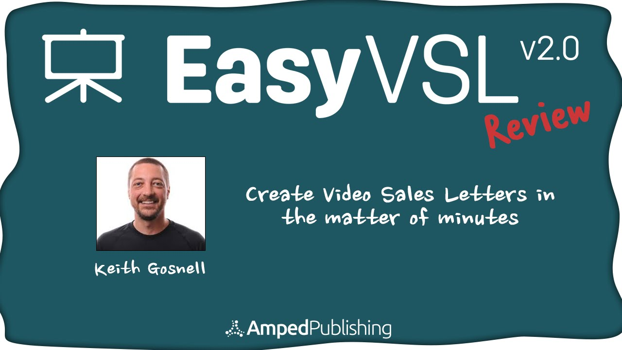 How To Create A Video Sales Letter Easy Vsl Software Review Youtube
