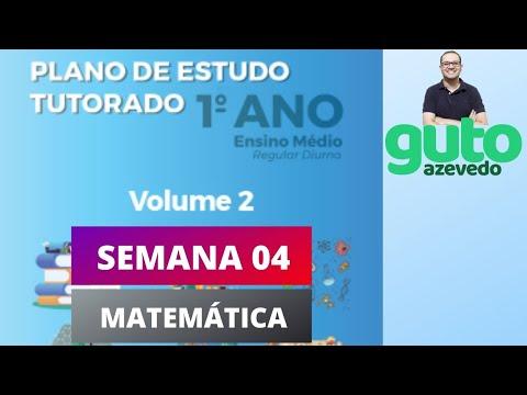 PET 2020 Volume 2 | 1º ano Ensino Médio | Semana 4 | Matemática | Guto Azevedo