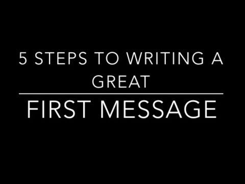 5 Steps to writing the perfect first message to a coach