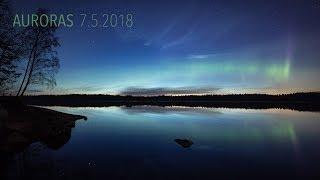 Auroras 7 5 2018 4K TIMELAPSE