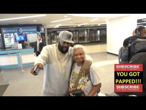 Rick Ross arriving at LAX Airport in Los Angeles