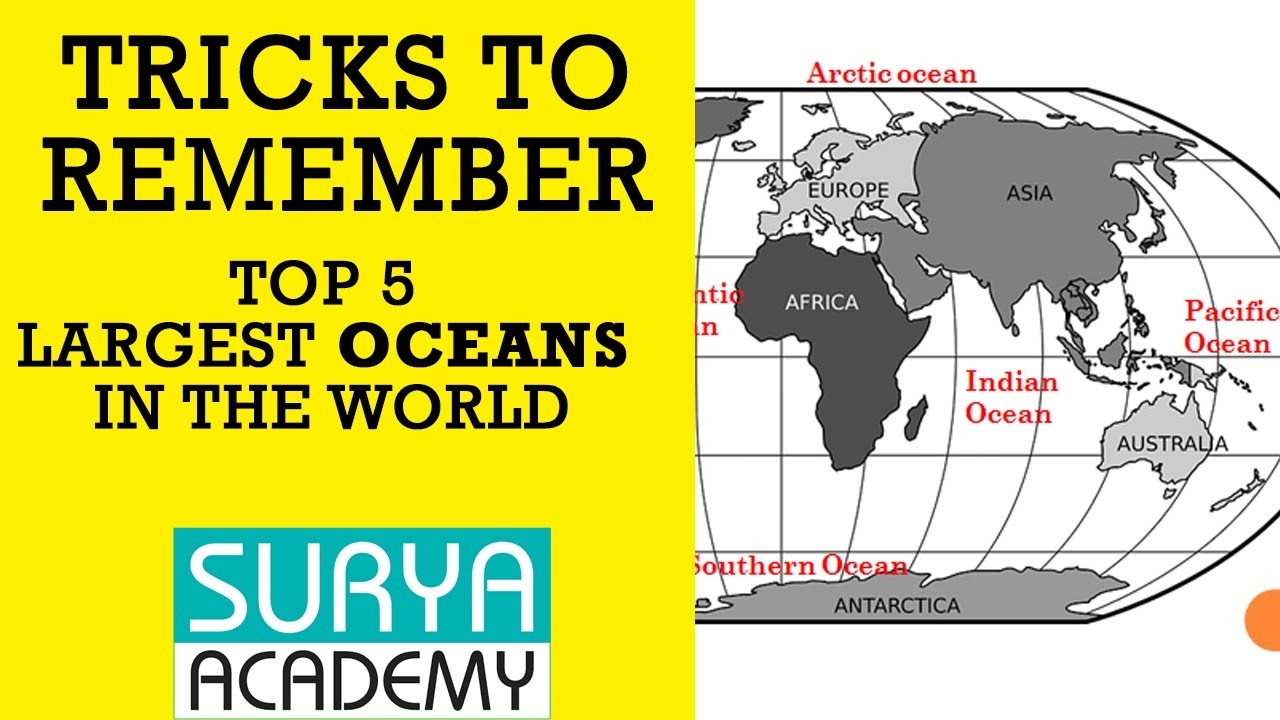 Tricks To Remember Top Largest Oceans Geography TNPSC UPSC - 5 largest ocean in the world