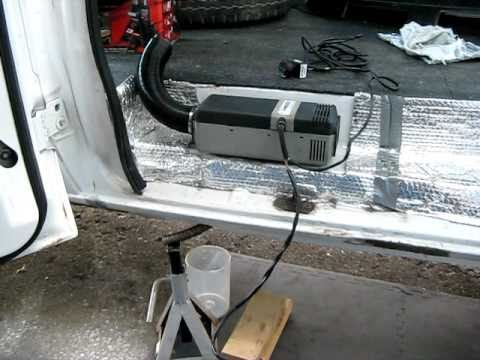 vw t5 wiring diagram basic small engine webasto air top 2000 diesel heater running in hal the van - youtube