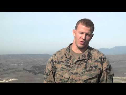 Marines Take First Step to Become Scout Snipers (Janssen - Interview)