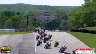 AMA Pro National Guard SuperBike Race 1 Highlights from Road America - 2013