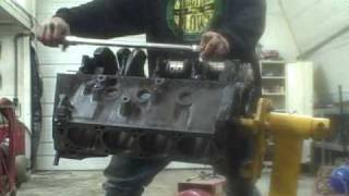 Engine Assembly Part 3 torquing main cap bolts