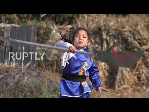 Nine Y/o Girl's Kung Fu Prowess A Hit On Chinese Social Media