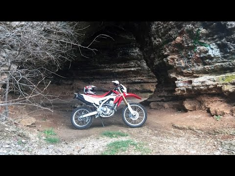 2014 CRF250L Ride through ASH CAVE Dual Sport in Missouri