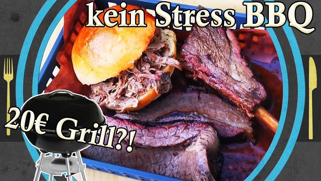 kein Stress BBQ mit einem 20€ Grill, BBQ selber machen