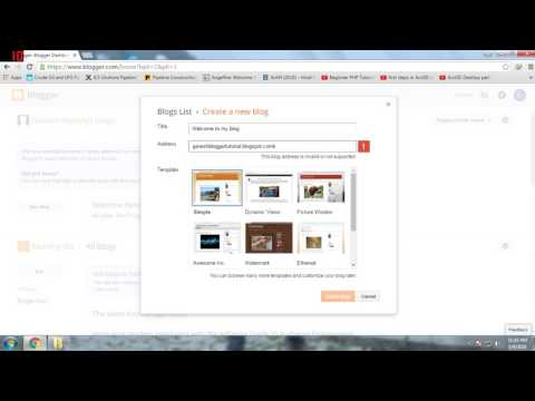 Blogger Tutorial 2016: Title, Address And Template (Video 2)