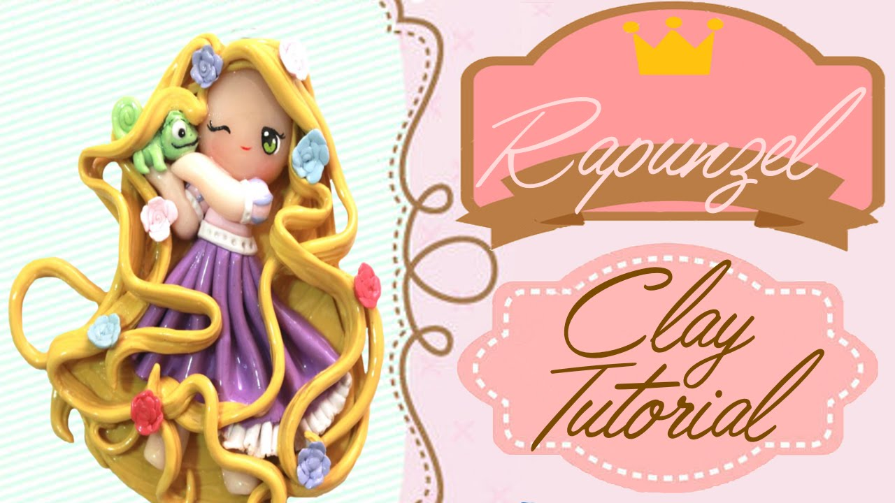 Rapunzel Tangled Chibi Polymer Clay Tutorial Youtube