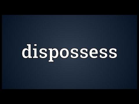 Header of dispossess