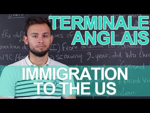 Spaces And Exchanges Immigration To The Us Anglais Terminale