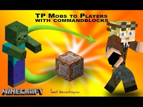 Teleport A Mob To A Player And Visa Versa In Minecraft YouTube - Minecraft teleport player to mob