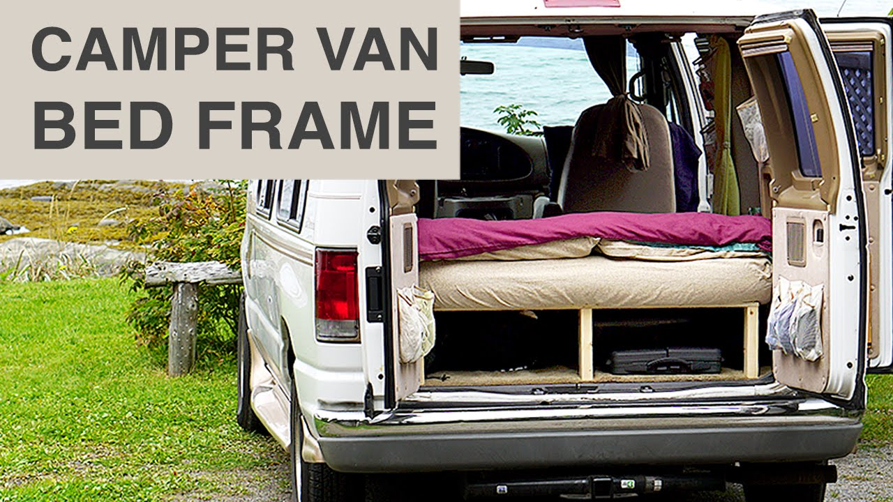 Van Life Cheap Easy Camper Van Bed Frame Youtube