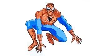 ЧЕЛОВЕК ПАУК Спайдермен Spiderman раскраска(Подпишитесь на новые видео: https://www.youtube.com/user/250carat?sub_confirmation=1 Я научу Вас как очень просто нарисовать любимог..., 2016-01-19T18:34:18.000Z)