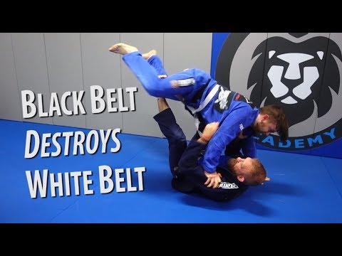 Black Belt Destroys White Belt - Brazilian Jiu-Jitsu