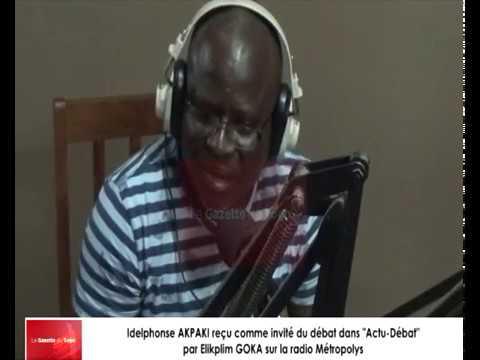 Idelphonse AKPAKI reçu comme invité du débat dans « Actu-Débat » par Elikplim GOKA