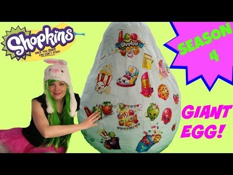 Giant SHOPKINS SEASON 4 Surprise Egg Mega Pack |