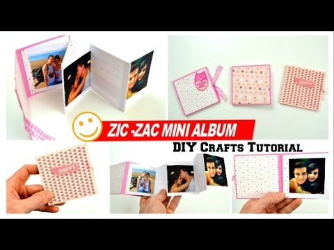 DIY Crafts - How to make a Mini Photo Album for boyfriend - DIY Ideas - Scrapbook making at home