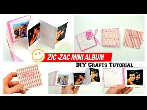 diy-crafts---how-to-make-a-mini-photo-album-for-boyfriend---diy-ideas---scrapbook-making-at-home