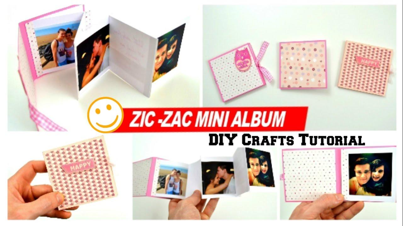 diy crafts - how to make a mini photo album for boyfriend - diy