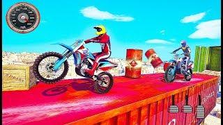 Mega Ramp Moto Bike Stunts Bike Racing Games - Impossible Motor Race Game - Android GamePlay