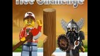 Лего Минифигурки игра - Сруби Дерево ( Lego games Minifigures Tree Challenge )