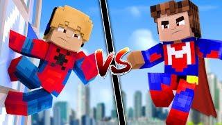 KIT DO HOMEM-ARANHA VS KIT DO SUPERMAN NO MINECRAFT ! (Qual é Melhor?)