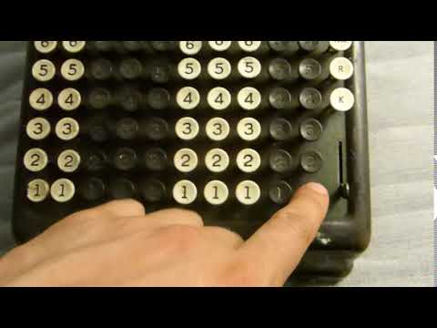 Adding machine GLOGOWSKI BURROUGHS PORTABLE
