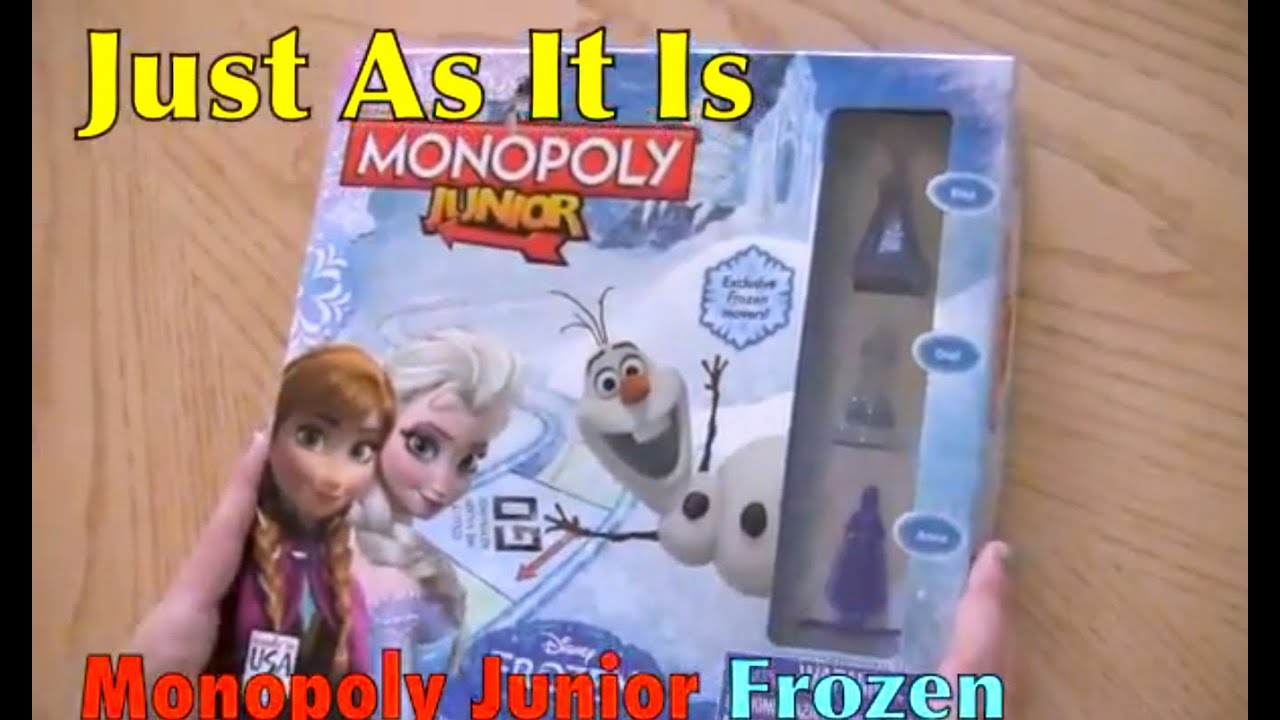 Frozen Monopoly Junior Just As It Is Unboxing Youtube