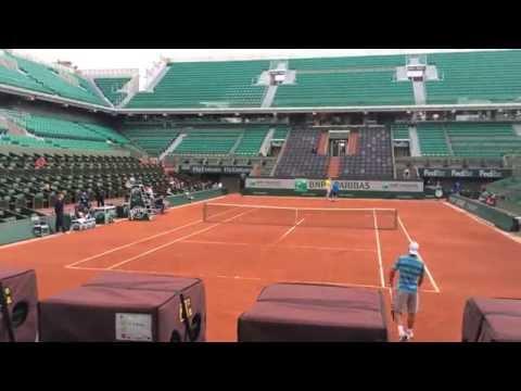 Rafael Nadal Practice 2014 French Open