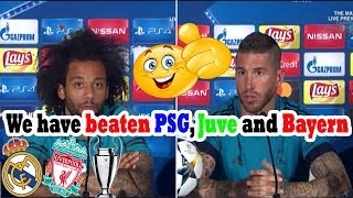 RAMOS AND MARCELO [PRE MATCH PRESS CONFERENCE] REAL MADRID VS LIVERPOOL (25/05/2018)