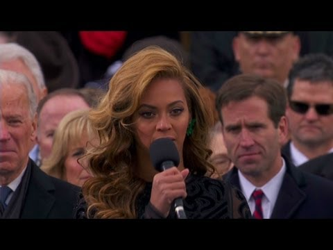 Special Programming - Beyonce sings national anthem at inauguration