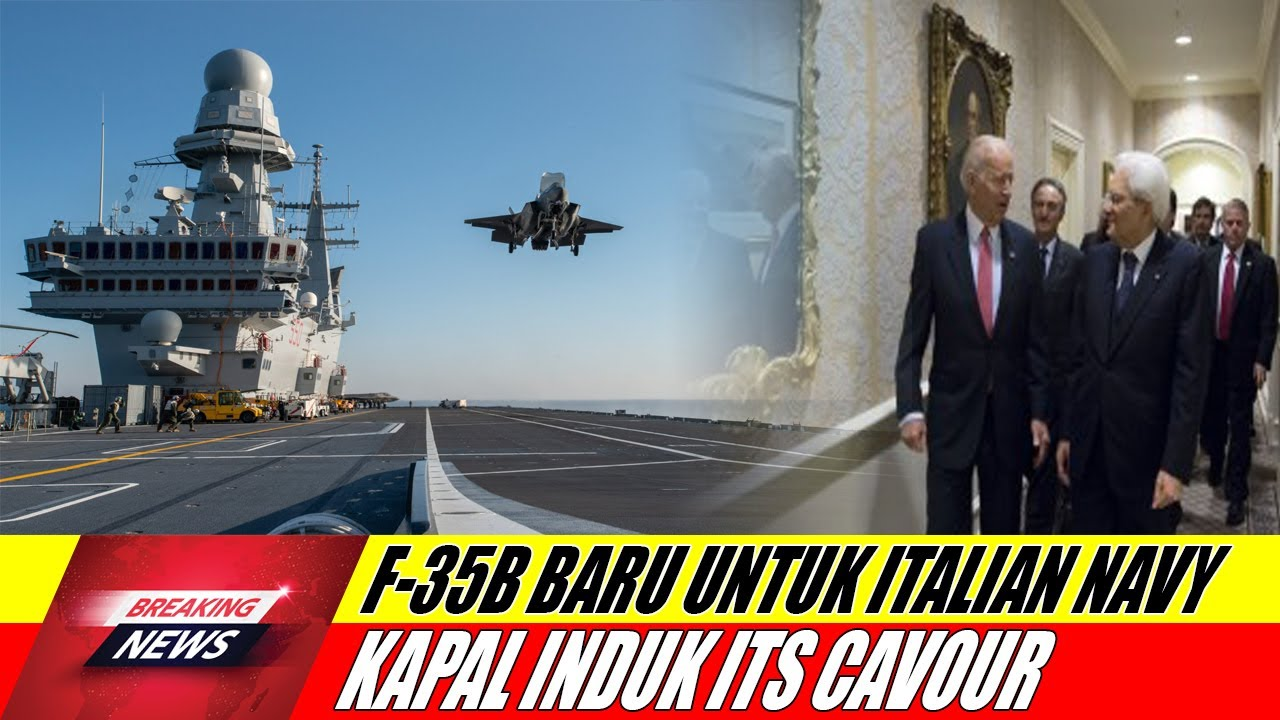 Pesawat Tempur F-35B Angkatan Laut Italia Mendarat di Kapal Induk ITS Cavour untuk Pertama Kali