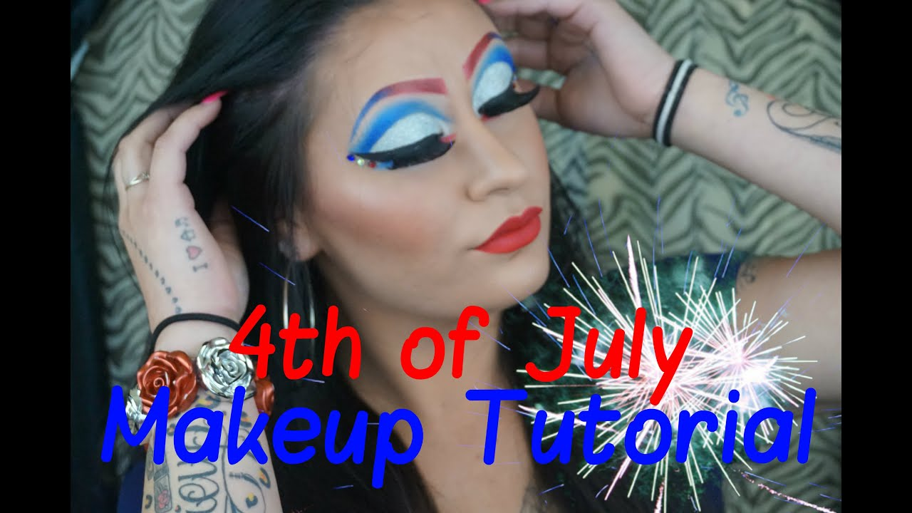 4th of july makeup tutorial diy makeup ideas 4th of july makeup tutorial hd image baditri Image collections