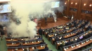 Watch as Tear Gas Is Thrown Into Government Meeting