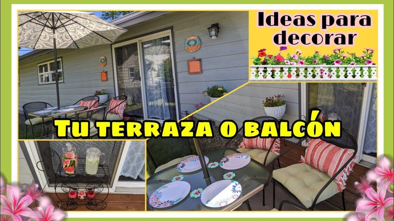 Ideas para decorar tu azotea,terraza o balcon.