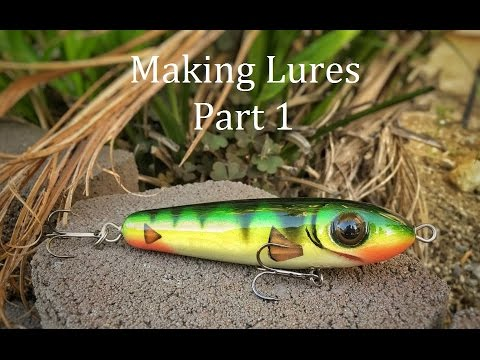 How to make topwater lures : Part 1 (turn bait, drill through hole , drilling)