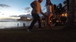 Kyle and Monika Bachata In Waikiki